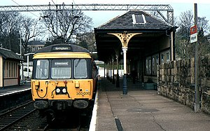 North Clyde Line - A Class 303 at Milngavie in 1985