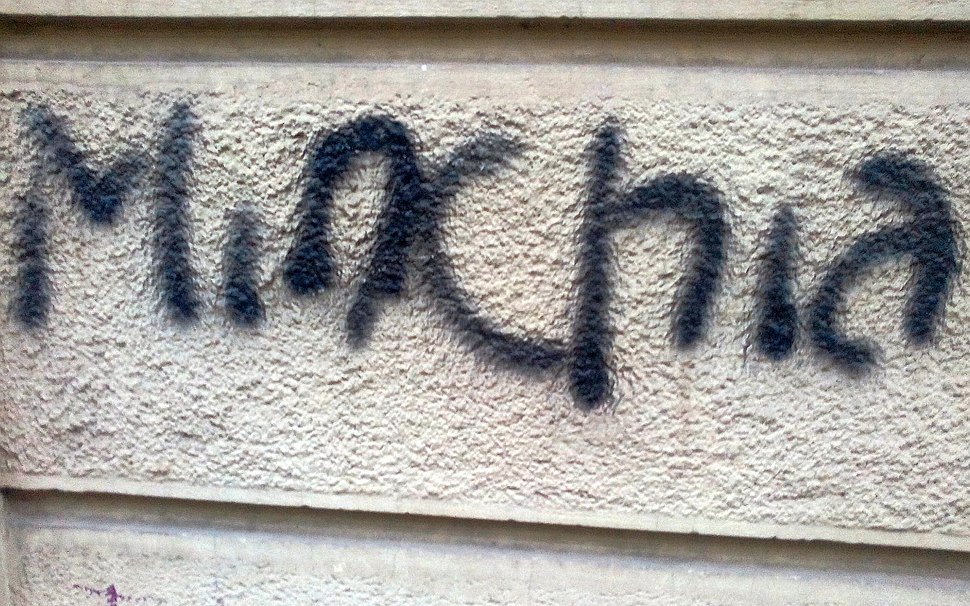 Minchia graffiti in Turin January 2017