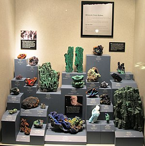 Copper Queen Mine - Image: Minerals from Bisbee at the Smithsonian