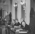 Minister Luns tijdens zijn rede in de Tweede Kamer , prof Vondeling, Bestanddeelnr 914-7745.jpg