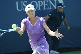 Mirjana Lučić at the 2010 US Open 01.jpg