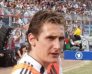 german football player Miroslav Klose at a pra...