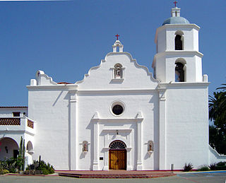 mission church in Oceanside, California, USA
