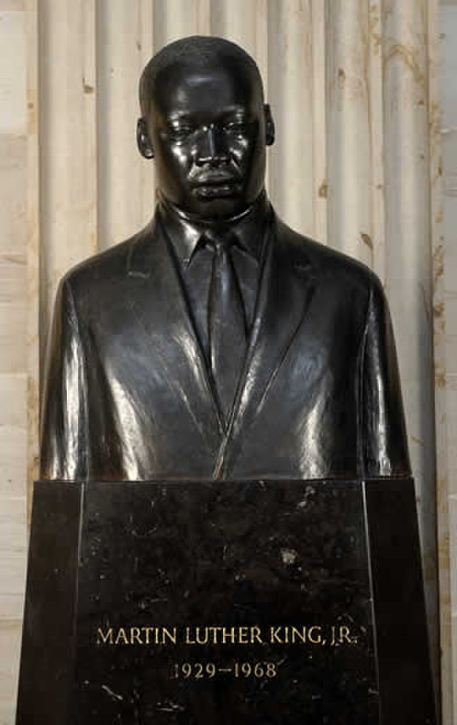 From commons.wikimedia.org: Mlk bust {MID-153258}