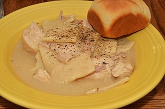 Chicken and dumplings - Image: Mmm... chicken dumplings (7867591472)