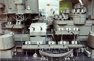 Gibbs & Cox - Close-up of USS Missouri model built by Gibbs and Cox, on display at the Washington Navy Yard