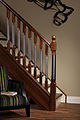 Modern staircase Erne collection spindles and newel posts with metal insert.jpg