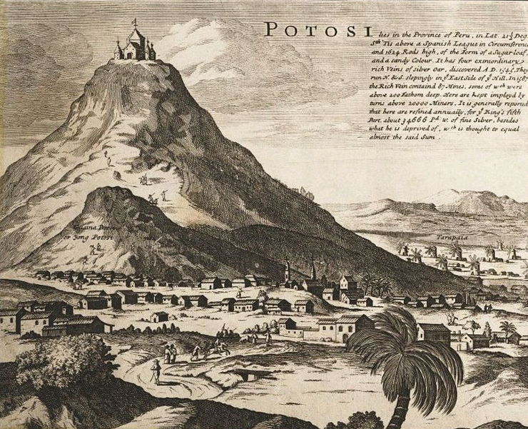 Moll - Map of South America - Detail Potosi