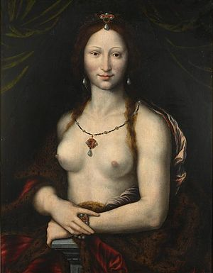 Mona Lisa replicas and reinterpretations - Joos van Cleve's Mona Vanna