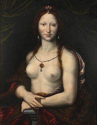 Mona Lisa replicas and reinterpretations - Joos van Cleve's Mona Vanna