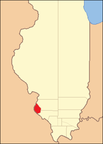 Monroe County, Illinois - Image: Monroe County Illinois 1816