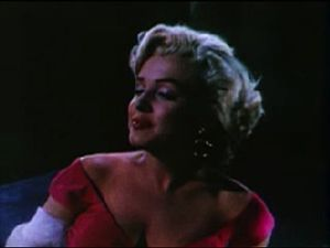 Marilyn Monroe singing in the theatrical trail...