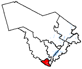 Montcalm (electoral district) - Montcalm in relation to other Quebec federal electoral districts