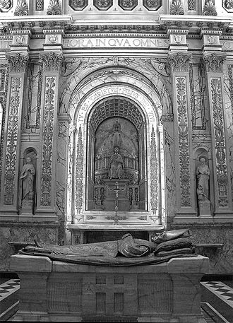Ignace Bourget - Bourget's tomb inside the Cathedral-Basilica Mary Queen of the World