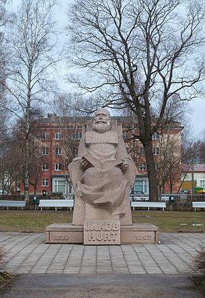 Monumenta Estoniae Antiquae - Monument to the organiser of Monumenta Estoniae Antiquae in Tartu.