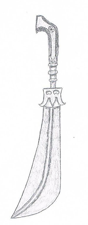 Mappila riots - The typical sword used by Moplahs during the Uprisings