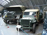 Morris Commercial C8AT Mk.III and Willys MB Truck, NELSAM, 27 June 2015.JPG