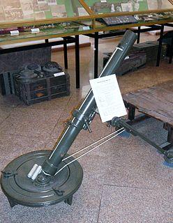 Mortaio da 81/14 Modello 35 1930s portable 81 mm mortar of Italian origin