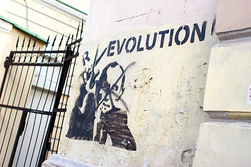Moscow Russia anti-Putin Graffiti R-EVOLUTION-2