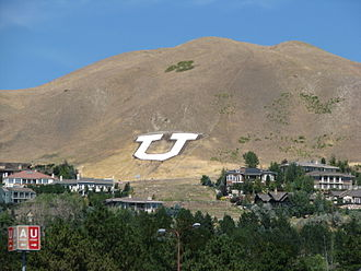 University of Utah - The Block U has overlooked the university since 1907