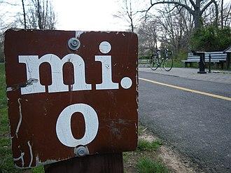 Mount Vernon Trail - Image: Mount Vernon Trail Mile Zero