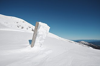 Mount Bogong - Staircase Spur after the July 2014 blizzards