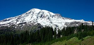 A photo of Mount Rainier taken from Paradise