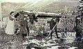 Mrs Creamer and family tending a garden, Dawson, Yukon Territory, spring 1905 (MEED 181).jpg