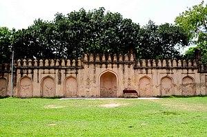 Dhanmondi Shahi Eidgah - Mihrab (central prayer-niche) that Emams faced during prayers.