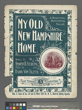 My Old New Hampshire Home - Sheet music cover page