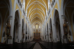 Basilica of Immaculate Conception, Phu Nhai - The interior of the cathedral