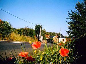 Le Bourg - The road into Le Bourg