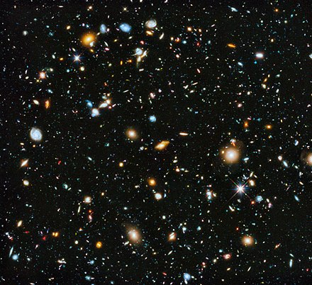 Pantheists believe that the universe itself and everything in it forms a single, all-encompassing deity. NASA-HS201427a-HubbleUltraDeepField2014-20140603.jpg