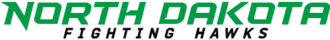 North Dakota Fighting Hawks men's ice hockey - Image: ND Fighting Hawks wordmark