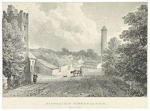 Clondalkin - Clondalkin Castle - view from 1830
