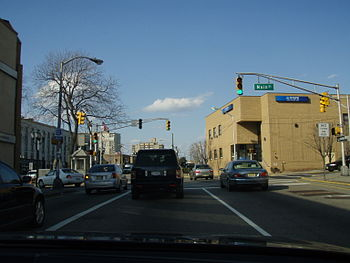Main Street and Lemoine Avenue in Fort Lee Koreatown