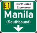 NLEX Manila Lane Direction Sign.png