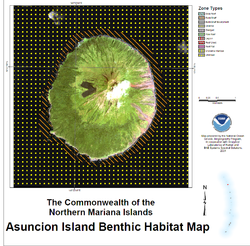 NOAA Asuncion Island Benthic Map.png