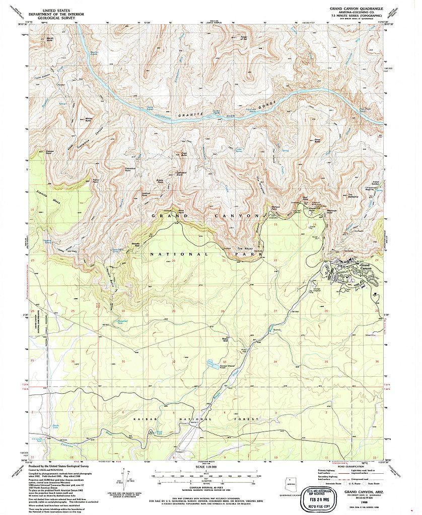 FileNPS Grandcanyonsouthrimwesttopomapjpg Wikimedia Commons - Grand canyon us map