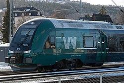 NSB (Norske tog) 75-39 i Vy-dekor, Sundhaugen, Drammen.jpg