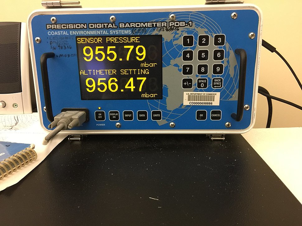 NWS Key West office barometer as Hurricane Irma approached