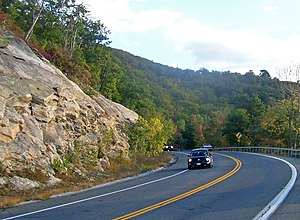 New York State Route 52 - NY 52 climbing the Shawangunks