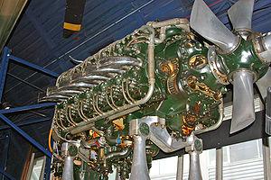 Napier Sabre - Napier Sabre cutaway at the London Science Museum.