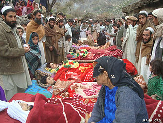 War in Afghanistan (2001–present) - Victims of the Narang night raid that killed at least 10 Afghan civilians, December 2009