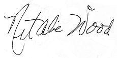 Unterschrift von Natalie Wood