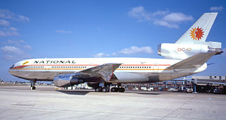 National Airlines (1934–1980) - National McDonnell Douglas DC-10 at Heathrow in 1974