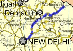 Muzaffarnagar - NH-58 passing through M.Nagar