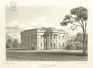 William Praed - Tyringham Hall in 1818.