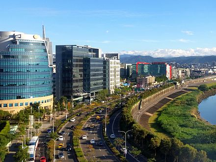 Neihu Technology Park in Taipei Neihu during 2015 winter solstice.jpg