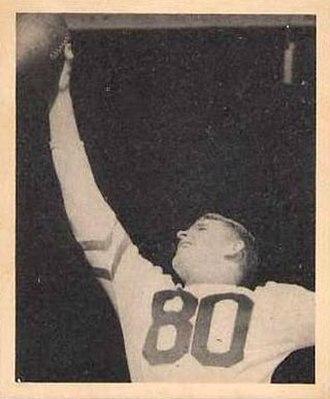 Neill Armstrong - Armstrong on 1948 Bowman football card